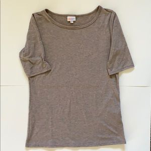 Medium Tan LuLaRoe Gigi Fitted T-shirt